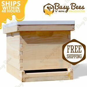 Langstroth Bee Hive 10 Frame 1 Deep Box includes All Frames Foundations