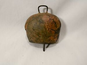 Antique Primitive Handmade On The Prairie Copper Cow Bell 3 Tall 7 25 Diameter