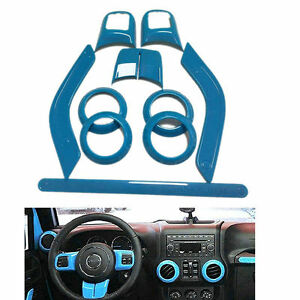 10x Light Blue Interior Dashboard Moulding Trim For Jeep Wrangler Cab 2 Door ya