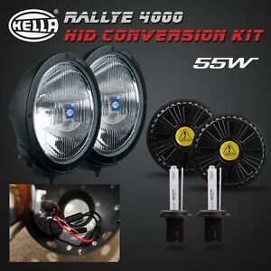 H3 Hid Xenon Conversion Kit For Hella Rallye 4000 Spot Lights internal Ballast