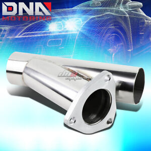 2 25 Stainless Performance Cutout Y Pipe 3 Bolt Flange Catback Exhaust Downpipe