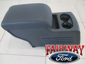16 Thru 19 Explorer Oem Ford Parts 2nd Row Seat Console For Xlt Limited In Black