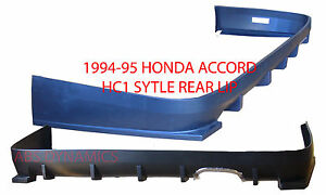 New 1994 1995 Honda Accord Hc1 Style Rear Lip Unpainted Black Polyproplyene
