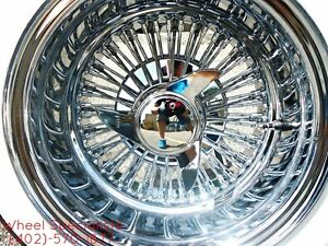 13x7 Straight Lace Chrome Knockoff Wire Wheels 72 Spoke Dayton Zenith Style 4