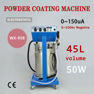 Top110 220v Powder Coating System With Spraying Gun Electrostatic Machinewx 958