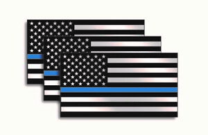 Thin Blue Line Usa American Flag I Support Police Sticker Decal Car Truck Window