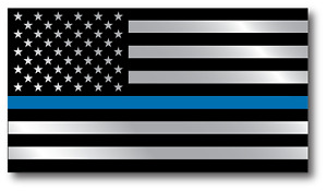 Police Officer Thin Blue Line American Flag Decal Sticker Graphic 3 X 5 5