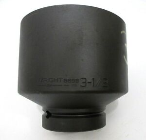 Wright Tool 8899 3 1 2 Impact Socket 1 Drive 6 point 3 1 2 In Made In Usa