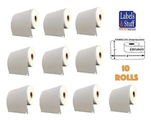 10 Rolls Of 220 4x6 Shipping Postage Labels 1744907 Compatible For Dymo 4xl