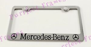 Mercedes Benz With Logos Stainless Steel License Plate Frame Rust Free W Boltcap