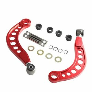 Rear Upper Camber Control Arms Kit For 06 15 Honda Civic Dx Ex Se 1 8l Red New
