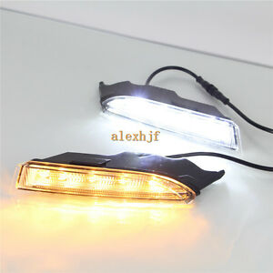 Led Daytime Running Lights Drl With Yellow Turn Signal For Vw Scirocco R 2010 14