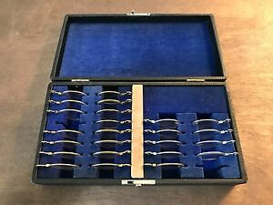 24 Piece Vintage Univis Presbyopic Trial Lens Set And Case Ophthalmology