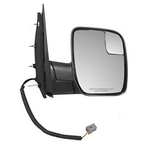 Fits 2010 2014 Ford Econoline Van Passengers Side View Mirror Fo1321396