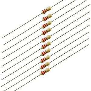 1 4 Watt Carbon Film Resistors 220 Ohm 10 Pieces