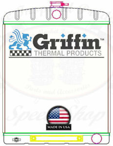 Griffin Universal Rat Rod Radiator W Automatic Transcooler 19x24 Tcbr 1 70208