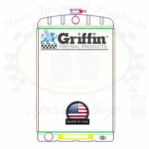 Griffin Universal Rat Rod Radiator W Automatic Transcooler 16x26 Tcbl 1 70219
