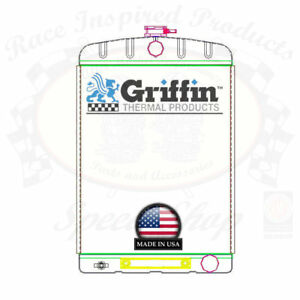 Griffin Universal Rat Rod Radiator W Automatic Transcooler 16x24 Tcbr 1 70216