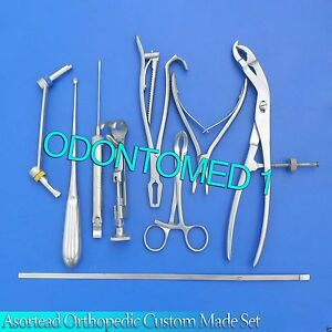 10 Asortead Orthopedic Surgical Instruments Custom Made Set