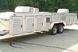Canine Dog Transport Hauler 14 Compartment Trailer Tuffy Line