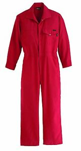 Workrite Fr Flame Resistant Nomex Iiia Industrial Coverall Snap Wrist Small Red