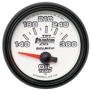 Autometer 7548 Phantom Ii Electric Oil Temperature Gauge