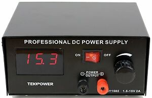 Tekpower Hy1502 Dc Power Supply With Control Pedal For Tattoo Gaming And Lab