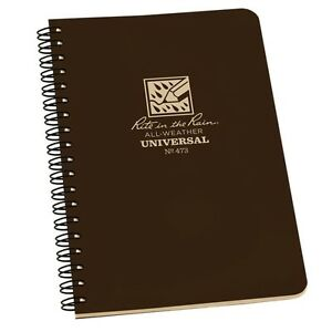 Rite In The Rain 473 All weather Universal Spiral Notebook Brown 4 5 8 X 7