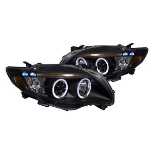 2009 2010 Toyota Corolla Led Drl Projector Headlights Black Housing Trd Ce Sport