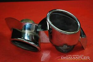 Porsche 911 993 Chrome Exhaust Tips Tail Pipe Left Right Pair Oem Bischoff