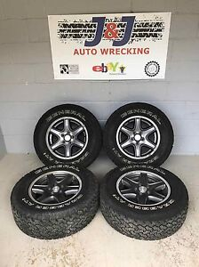 02 03 04 Jeep Liberty Set Of 5 16x7 Renegade Aluminum 6 Spoke Wheels With Tires