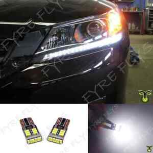 White Led Headlight Strip Bulbs Lights 6000k For 2013 2014 2015 Honda Accord X7w