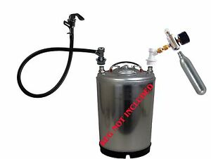 Co2 Beer Tap Full System Kegerator Keg Faucet Hose Cornelius Gas Regulator Pump