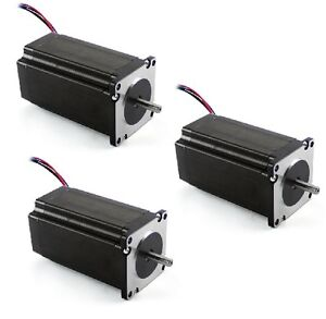 3 Pcs New Nema 23 Stepper Motor 381 Oz in With Dual Shaft With Low Indutance