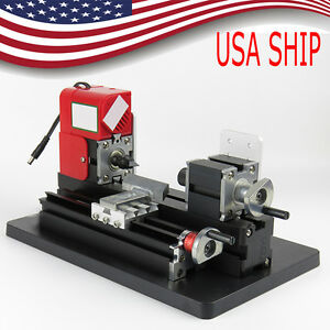 usa mini Metal Working Lathe Motorized Machine Diy Soft Metal Woodworking 12vdc