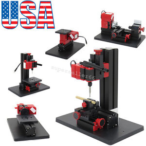 Multifunction Jigsaw Drilling Sanding Wood turning Lathe Milling Machine 6in1 Us