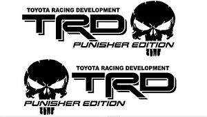 Truck Car Decal Trd Punisher Edition Alternate Vinyl Decal Outdoor Vinyl
