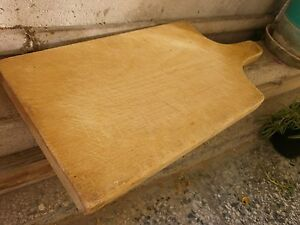 Antique Vintage Primitive Wooden Wood Bread Cutting Board Dough Plate 1