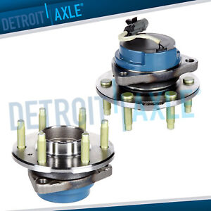 Set 2 New Front Driver And Passenger Wheel Hub Bearing For Rwd Models W Abs