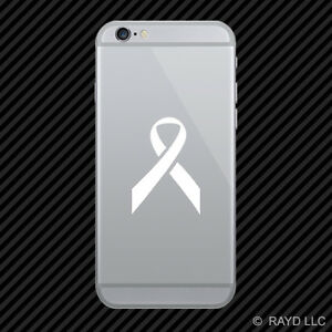 2x Breast Cancer Ribbon Cell Phone Sticker Mobile Pink Many Colors