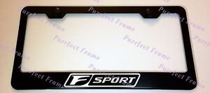 Lexus F Sport Laser Style Black Stainless Steel License Plate Frame W Bolt Caps