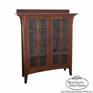 Limbert Antique Mission Oak 2 Door Bookcase B 358