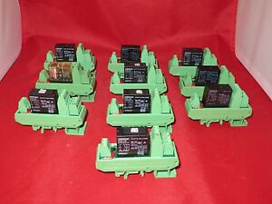 Omron Relay G2r 24 With Phoenix Contact Relay Base Umk se 11 25 1 lot Of 10