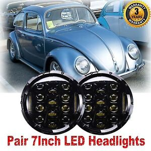 7 Inch Cree Led Headlight Round Hi Lo Beam 150w For 1950 1979 Vw Beetle Classic