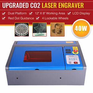 Omtech 12x8 40w Co2 Laser Engraver Cutter Engraving Machine Red Dot Guidance