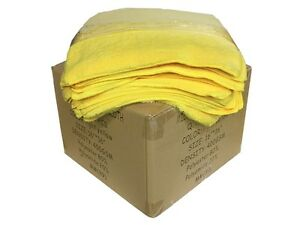 120 Case Microfiber 16 x16 Cleaning detailing Cloths Extra Plush 400gsm Yellow