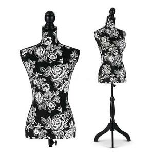 Ikayaa Female Mannequin Torso Dress Form Display Withtripod Stand Pinnable S0k3