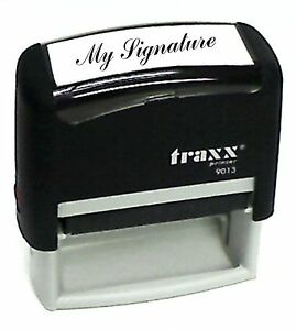 Custom Signature Self inking Rubber Stamp Traxx 9013