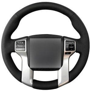 Real Leather Steering Wheel Cover For Toyota Tacoma 2012 2013 14 15 16 17 18 19