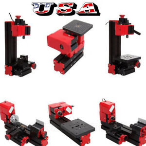 Us 6in1 Machine Wood Metal Diy Tool Jigsaw Milling Lathe Drilling Multi function